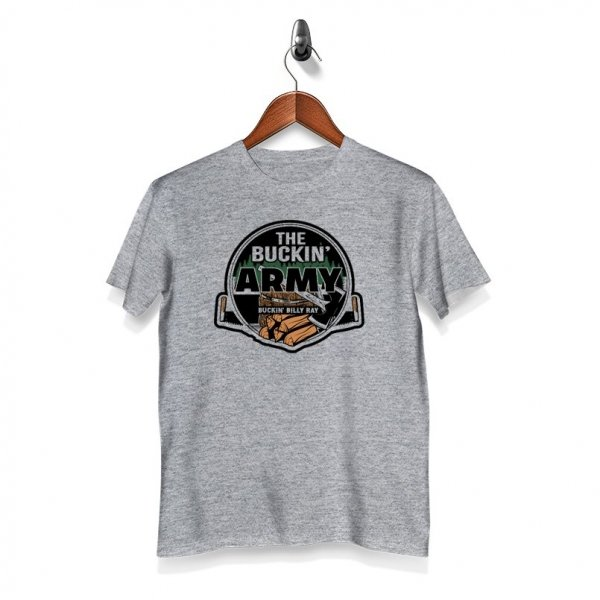 The Buckin Army T-Shirt - Grey