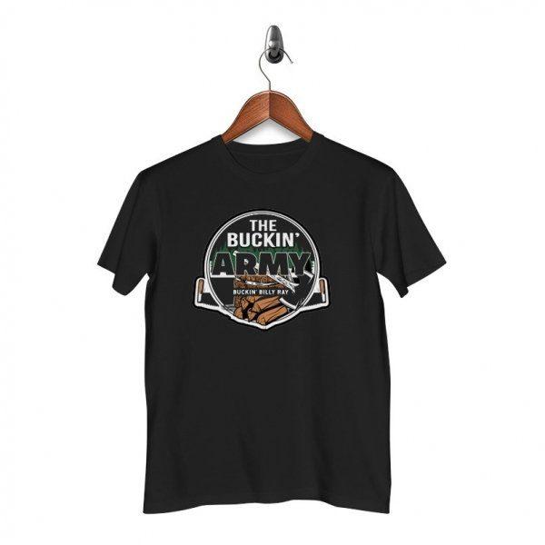 The Buckin Army T-Shirt - Black