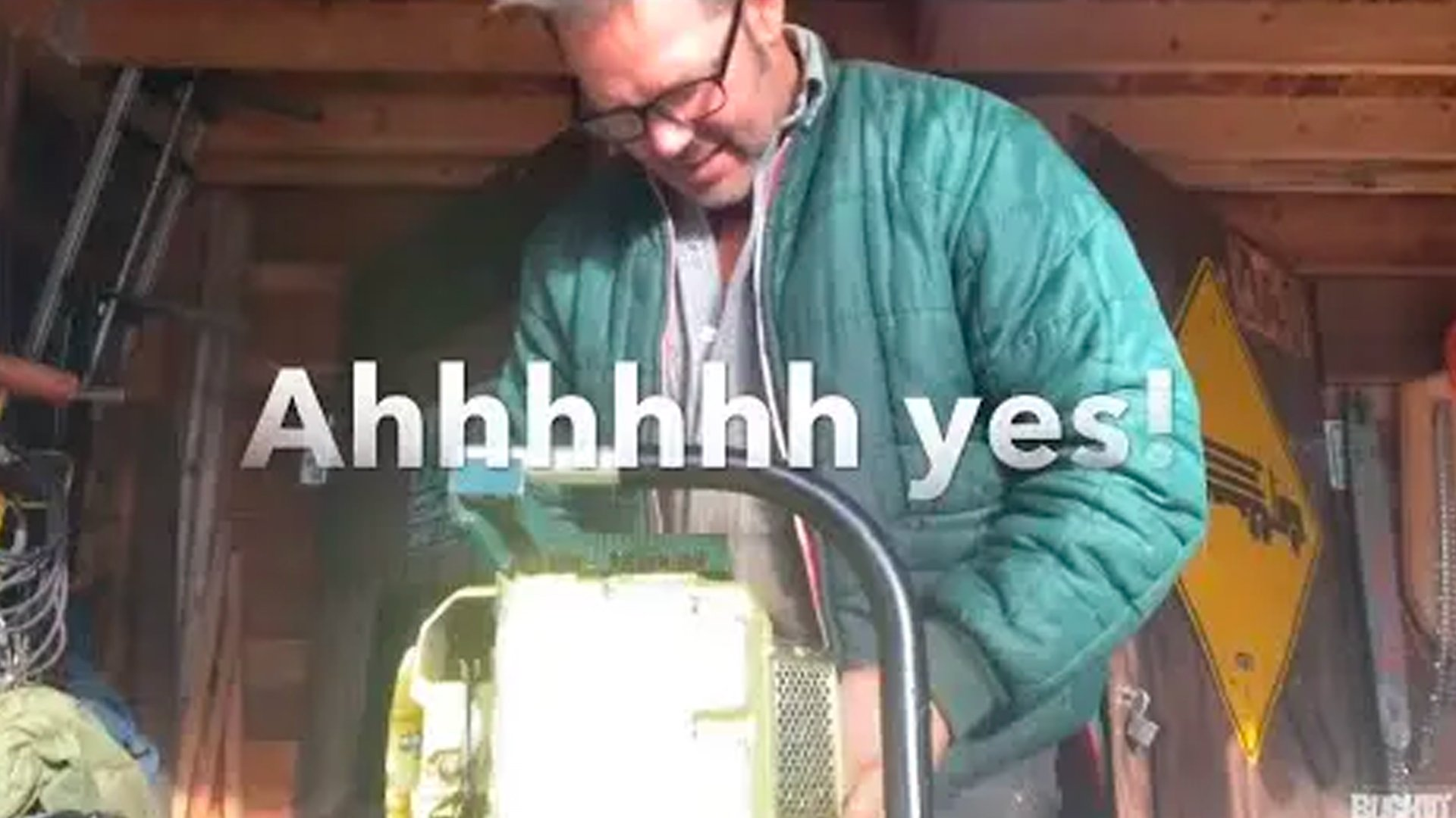 Unboxing-special-chain-saw.-And-swingin-a-true-Buckin-Special