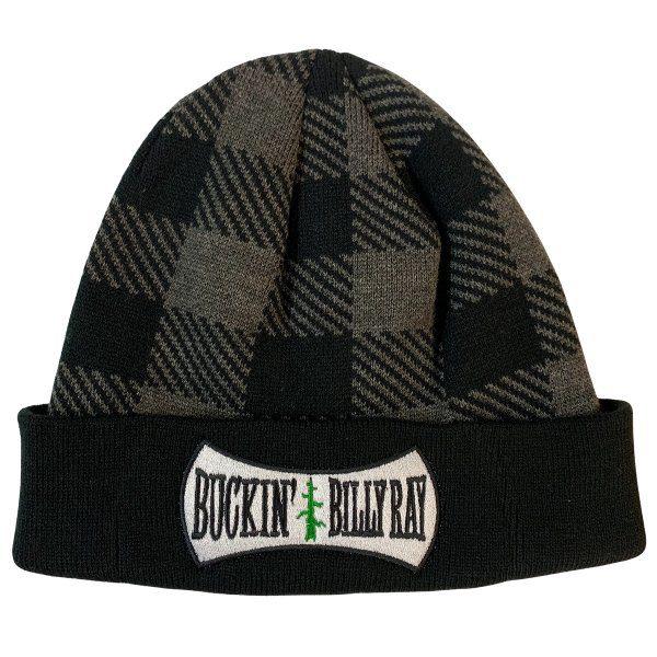 BUCKIN'S PLAID TOUQUE GRAY / BLACK