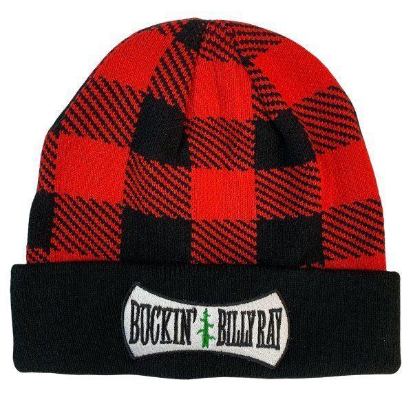 BUCKIN'S PLAID TOUQUE RED / BLACK